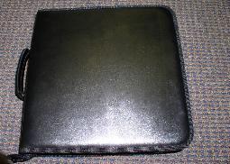 JS77 LEATHERETTE CD WALLET, 200 CDs 4 PCS/CS