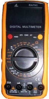 Digital Multimeter w/capacitance &Temperature, RA70C