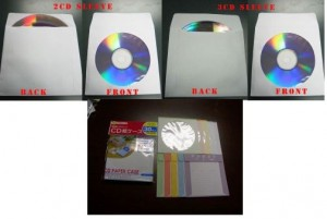 All 1-3 CD PAPER SLEEVES