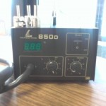 LDB HOT AIR REWORK DESOLDERING STATION, TEMP DISPLAY, 850D
