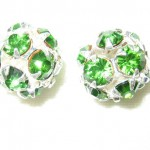 8 10mm Swarovski Rhinestone Filigree Balls Silver / Color Crystal