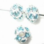 6mm Swarovski Rhinestone Filigree Balls Silver / Color Crystal
