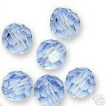 Swarovski Crystal Beads 8mm Round Lt Sapphire